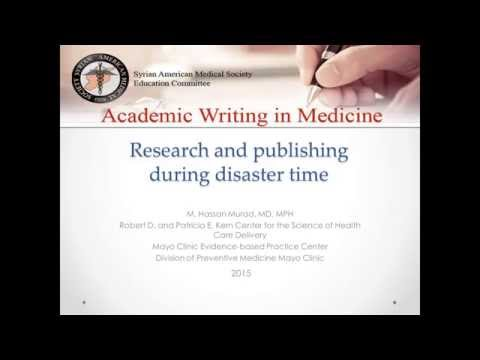 Research and Publishing During Disaster Time - M Hassan Murad, MD, MPH
