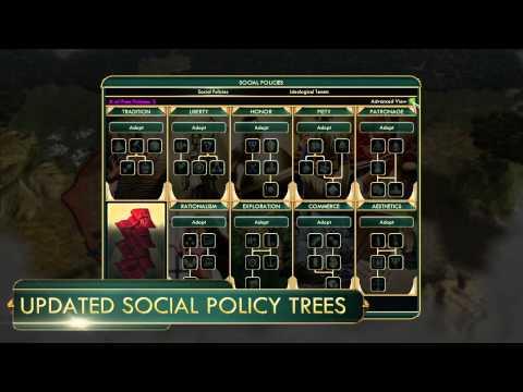Civilization 5 Brave New World Enter a Brave New World Policies & Ideologies trailer