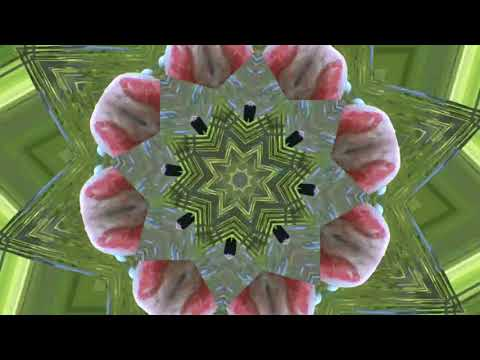 VISUAL STIMULATION- FLAMINGO Kaleidoscope - water frog & cricket sounds  - VIBRATION THERAPY