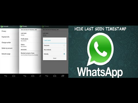 Whatsapp New Feature - Hide Last Seen Time, Profile Picture and Status in Android