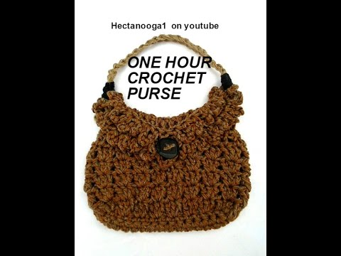 Very Easy Free Crochet Video One Hour Crochet Bag Pattern Purse