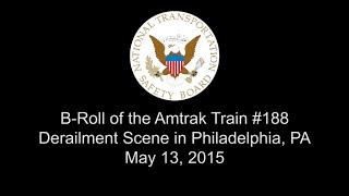B-Roll of Scene of Amtrak Train #188 Derailment in Philadelphia, PA