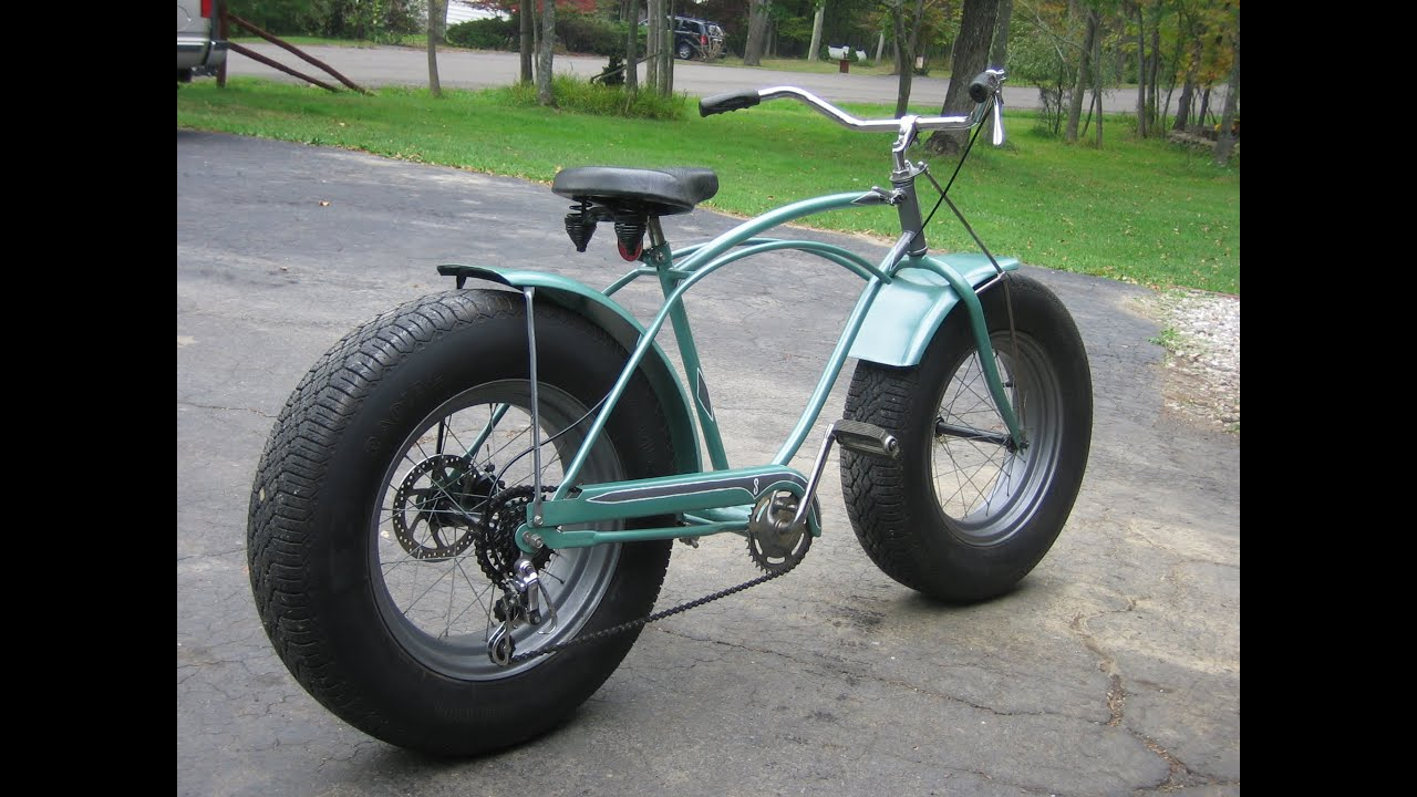 Custom fat schwinn bike with car tires youtube for Is a bicycle considered a motor vehicle