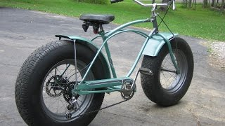 Custom Fat Schwinn Bike with Car Tires
