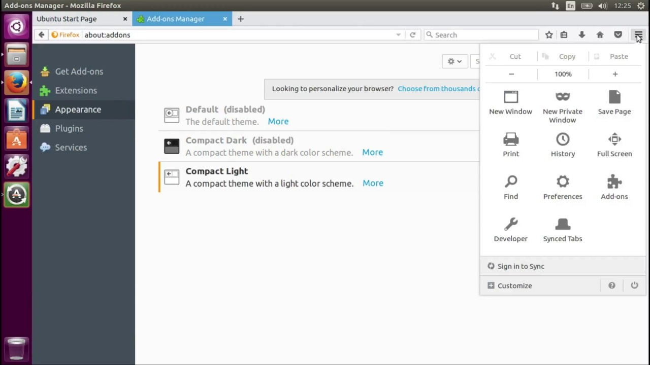 Enable Different Themes in Firefox Beta 53