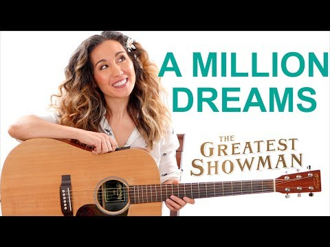 A Million Dreams - The Greatest Showman Easy Guitar Tutorial with Play Along