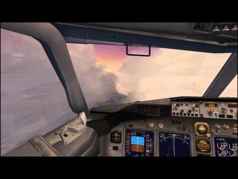 Jean Pierre Pribilois FSX Boeing 737-800 Easyjet (Bratislava - Vienna) Stormy Weather