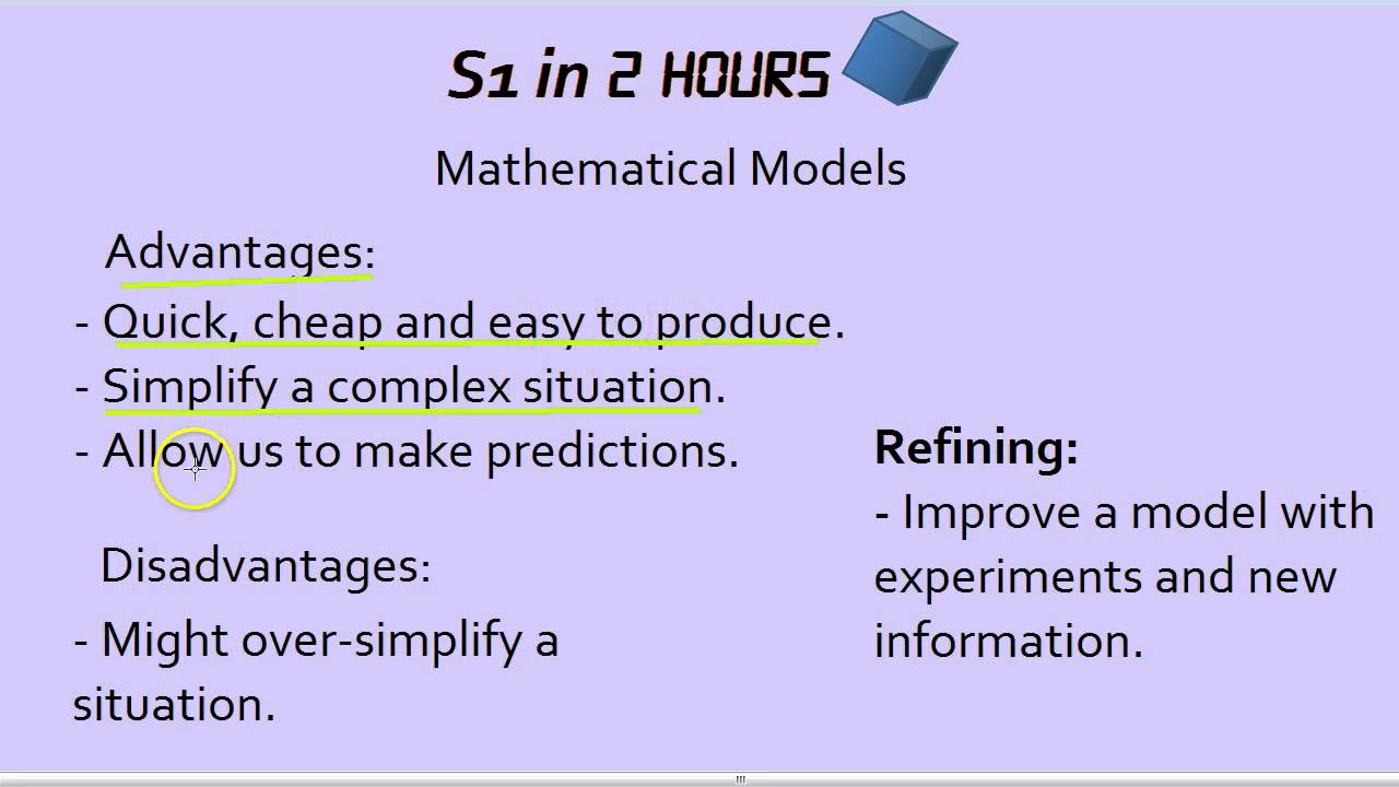 S1 in 2 Hours: Mathematical Models