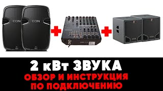 Аренда 2-х кВт звука - обзор и инструкция как пользоваться от ZakazDj.Ru