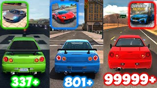 Nissan Skyline Top Speed in Extreme Car Driving, Ultimate and Car Parking Multiplayer screenshot 5