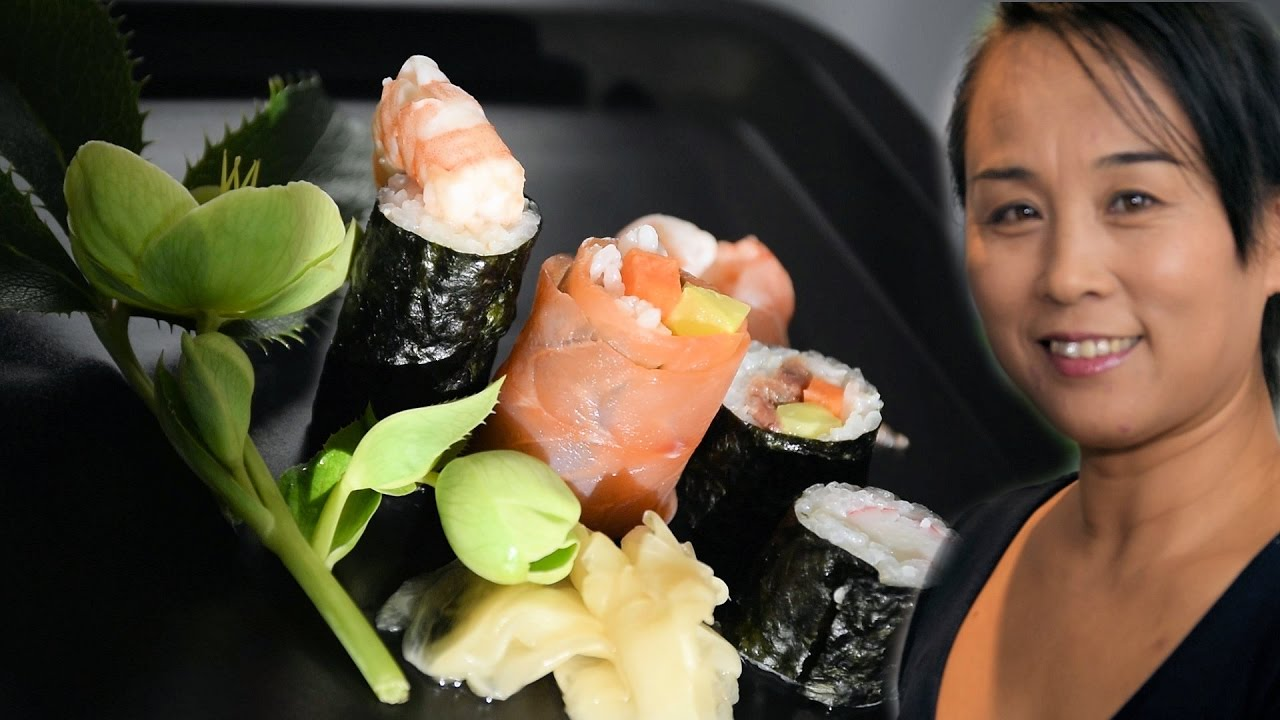 how to make cooked tuna sushi rolls