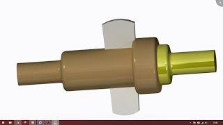 Cotter joint part designing and assembly in creo parametric (2.0/3.0/5.0)