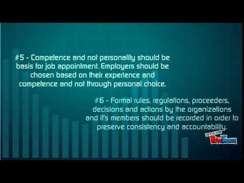 Max Weber's Theory of Bureaucracy