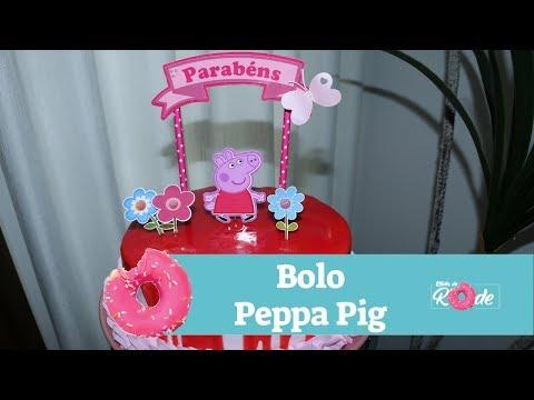 🔴 Bolo Infantil Peppa Pig | Como Fazer Bolo Peppa Pig | Parceria Com Karen Munhoz | Kitutes Da Rode