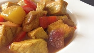 How to make Sweet and Sour Pork Curry (Easy Pork with Pineapple Recipe)