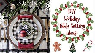 DIY christmas table setting | pottery barn inspired | VLOGMAS | beeisforbeeauty