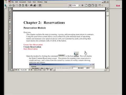 EzTraker Car Rental Reservation Software - Operation Guide