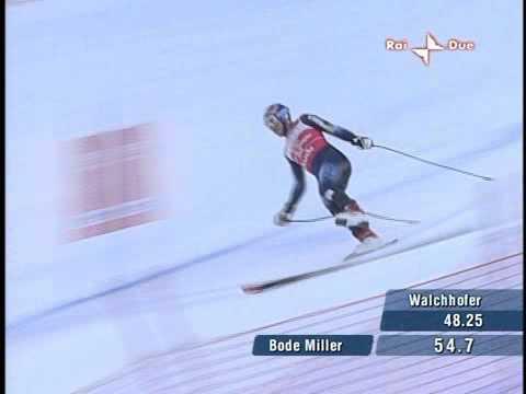 Bode Miller su uno sci solo