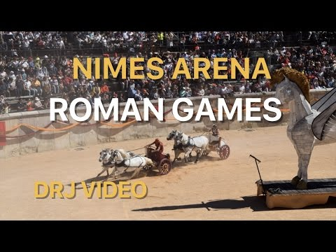 Roman spectacle in the Arena of Nimes, France, 2017