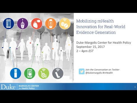 Public Event: Mobilizing mHealth Innovation for Real-World Evidence Generation