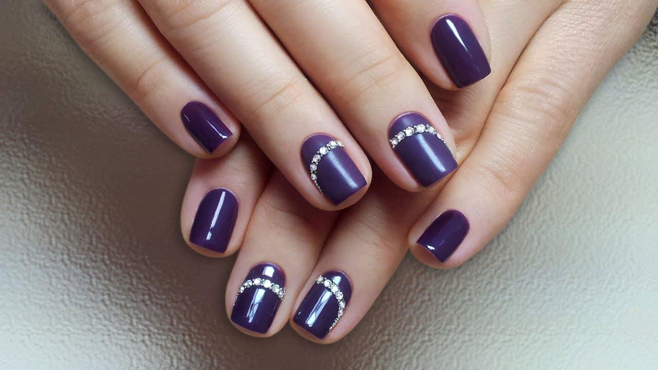 стразы на ногтях дизайн 2