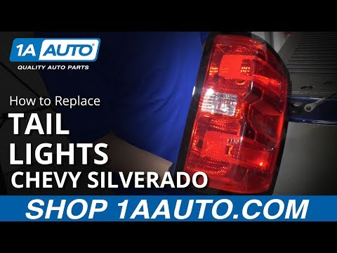 How to Replace Tail Light Lens 14-19 Chevy Silverado