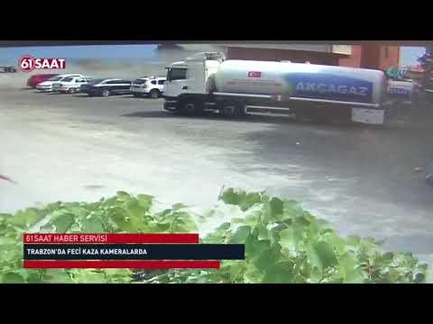 Trabzon'da feci kaza kameralarda!