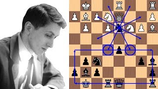 Bobby Fischer\'s 21-move brilliancy