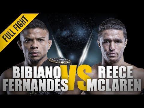ONE: Full Fight | Bibiano Fernandes vs. Reece McLaren | An Absolute Classic | December 2016