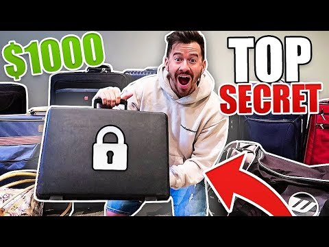 I Bought $1000 of Lost Luggage at an Auction and Found This.. (TOP SECRET LOCKED BRIEF CASE!!)