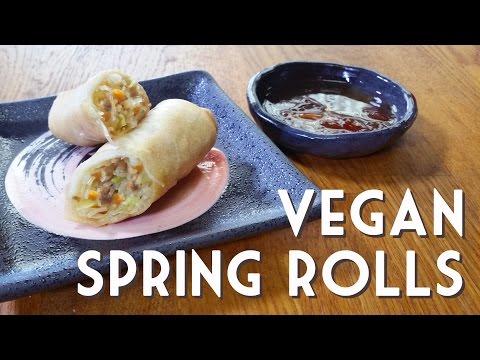VEGETABLE SPRING ROLLS • Easy Vegan Recipe