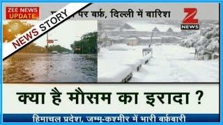 Heavy snowfall paralyses life in Kashmir and Shimla