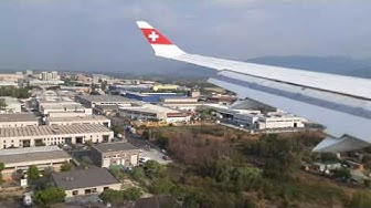 Swiss Airlines CS 100 Landing Florence Airport (FLR)