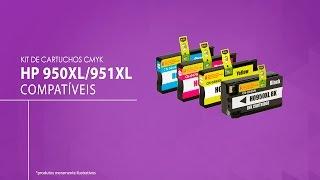 KIT 4 CARTUCHOS HP 950XL | HP 951XL CMYK COMPATÍVEL
