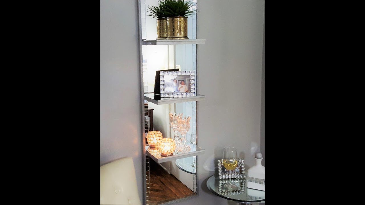 Excellent Mirrored Shelf Unit DIY - YouTube LQ18