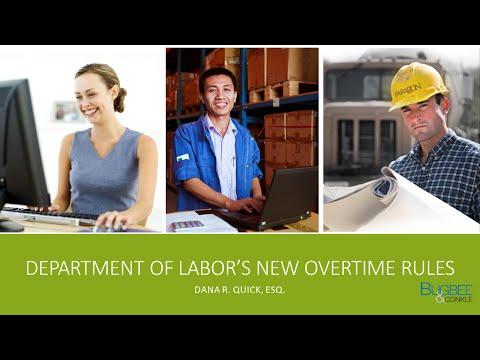 Department of Labor New Overtime Rules Full Webinar