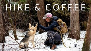 Hike with the Dog & Coffee on the Twig Stove