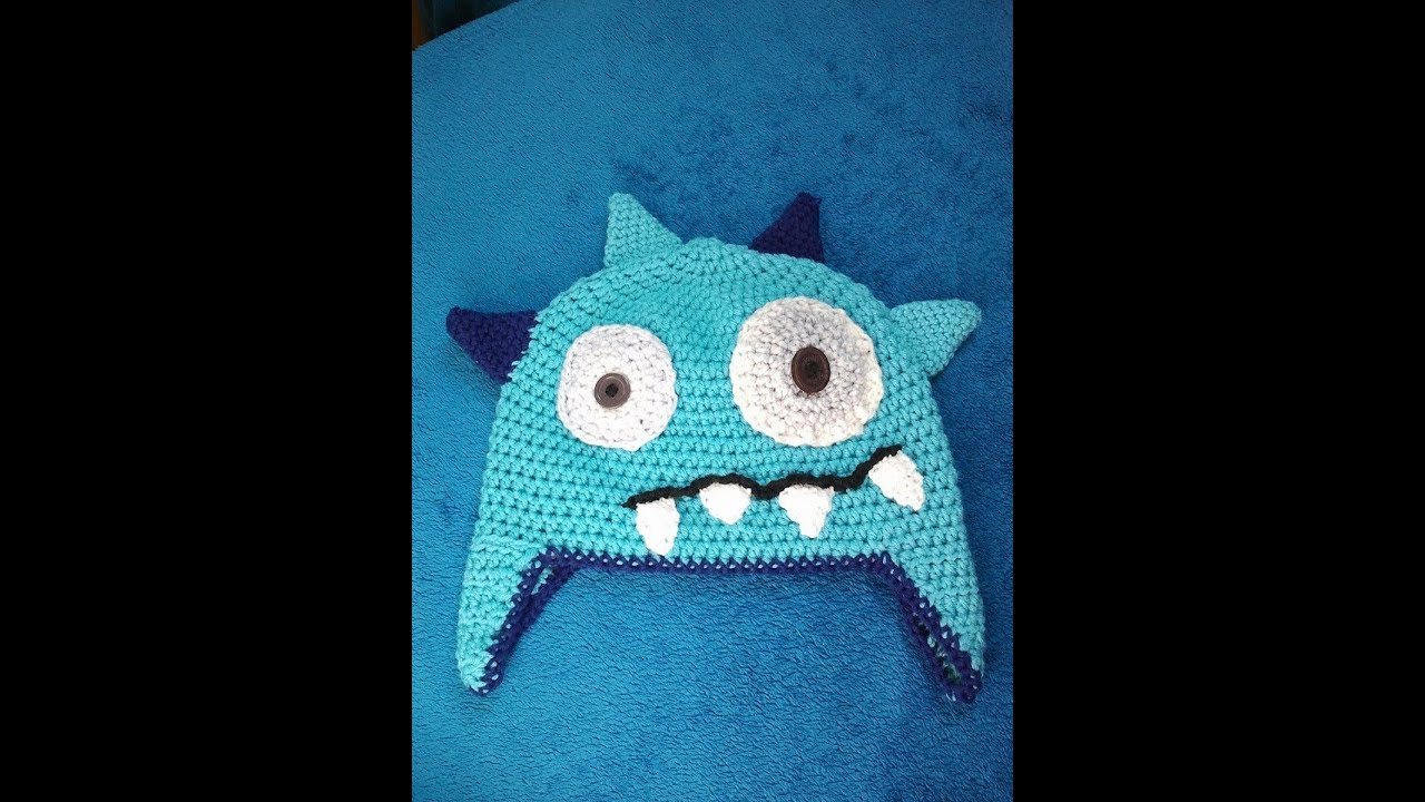 Ellis Monster Hat Crochet Pattern Schachenmayr Baby Super Soft Youtube