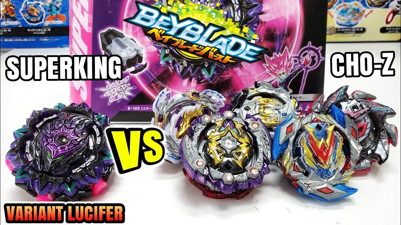 VARIANT LUCIFER vs CHO-Z BEYBLADES! Beyblade Burst Superking (Sparking) Unboxing (B-169) Takara Tomy