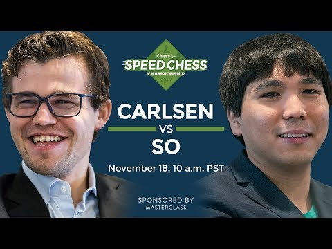 Speed Chess Championship: Magnus Carlsen Vs Wesley So