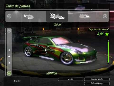 Need For Speed Underground 2 - Nissan 350z - replica ...
