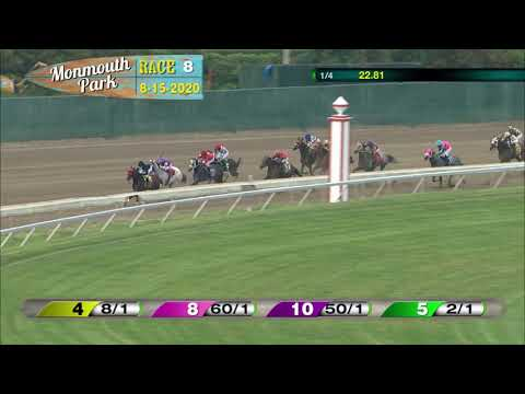 video thumbnail for MONMOUTH PARK 08-15-20 RACE 8
