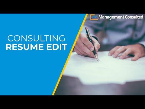Consulting Resume Edit
