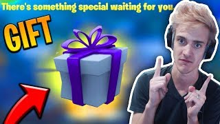 NINJA GOT A GIFT FROM EPIC GAMES! - Fortnite Moments #67
