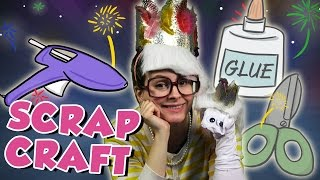 Sock Puppet & Glitter Crown DIY! - Scrap Craft | Arts and Crafts with Crafty Carol