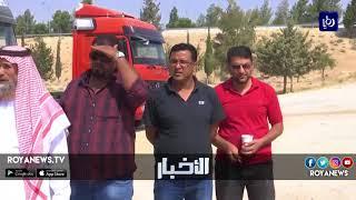 سائقو الشاحنات يعتصمون للمطالبة بزيادة أجرة النقل