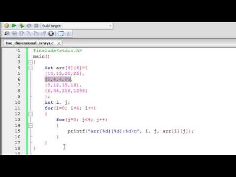 C Programming Tutorial - 54: Two Dimensional Arrays