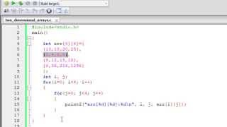 C Programming Tutorial - 54: Two Dimensional Arrays