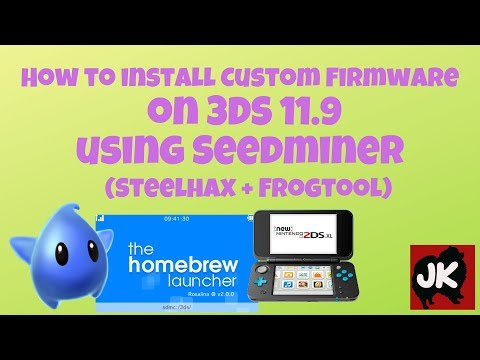 How to install Custom Firmware on 3DS 11.9 using Seedminer
