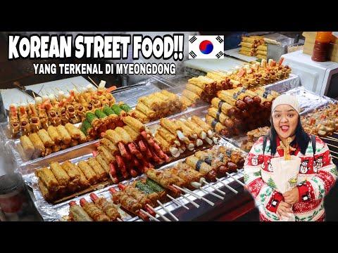 Jajanan Kaki Lima Harga Restoran Myeongdong Street Food Seoul Korea Selatan Youtube